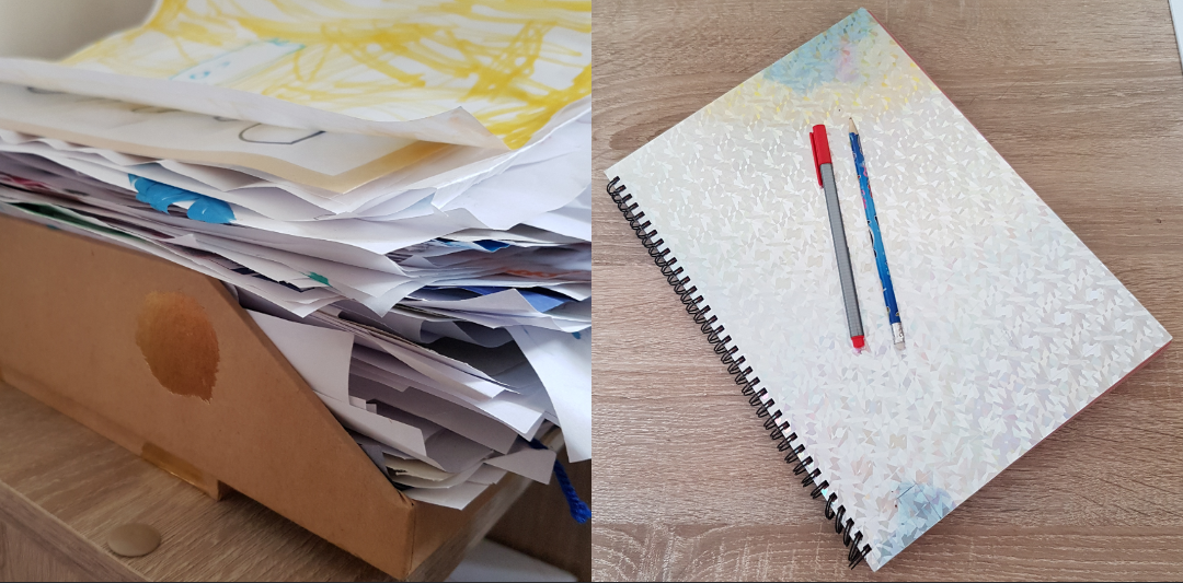 how to keep your children's work organised Mind your Mamma